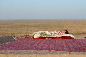 Niño durmiendo, Uzbekistán. Texto y fotografía: Margarita T. Pouso