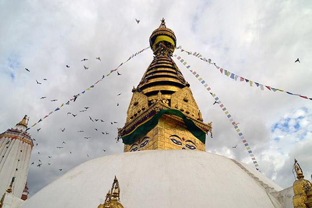 Swayambhunath Temple or Monkey Temple. Swayambhu, 2016. Fuente: www.ritapouso.com